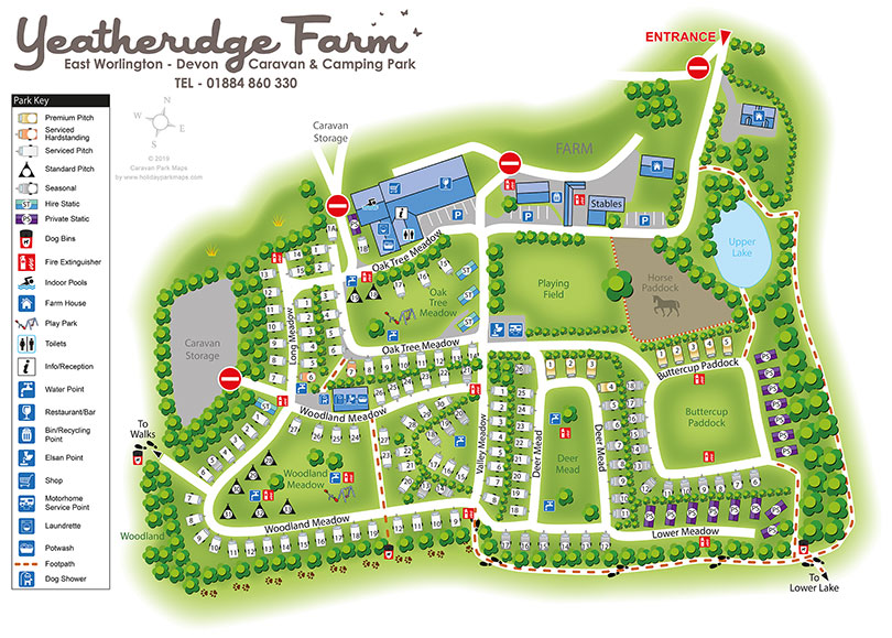 Site map of Yeatheridge Farm