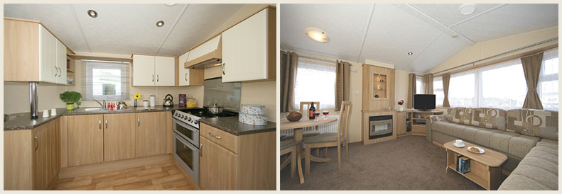 Luxury holiday caravans in Devon